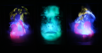 "Guided tour of the ""Tony Oursler: Experimentum crucis"" exhibition"