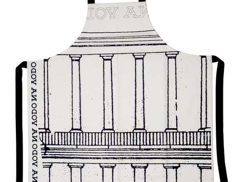 "Apron ""Colonnade"" from the Breakfast with Plečnik souvenir collection"