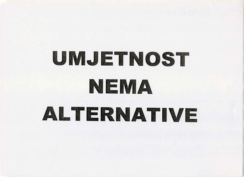 Vlado Martek, Umetnost nima alternative