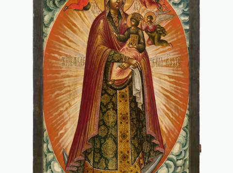 "Mother of God ""Woman Clothed in the Sun"", 18th century © State Tretyakov Gallery"