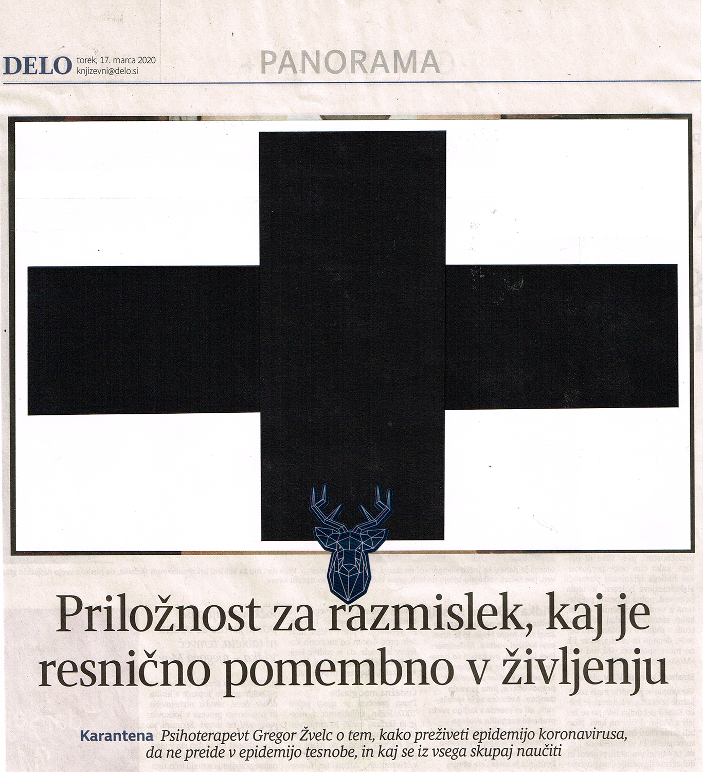 Roman Uranjek (neo standard kultur), At least one cross a day after 1.1.2002, 17.3.20-1